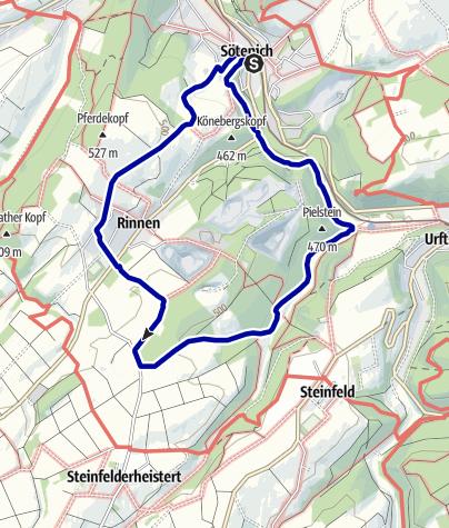 Karte / Wanderweg Nr. 5 - Eifelverein OG Sötenich