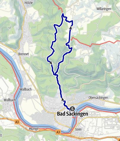 Karte / Auf zum Solfelsen