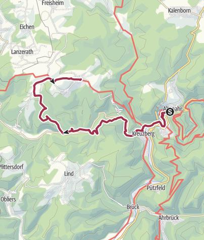 Karte / Tourist-Information Altenahr - Alte Krähe, Krälingen