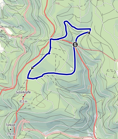Karte / Schenkenzell-Kaltbrunn,  Zieflebrunnen und Schmidsberger Platz