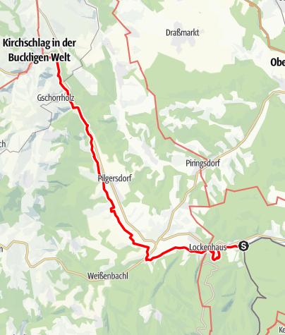 Karte / Marienweg Etappe Lockenhaus - Kirchschlag i.d. Buckligen Welt