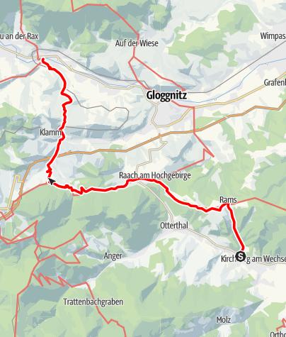 Térkép / Marienweg Etappe Kirchberg a. Wechsel - Payerbach a.d. Rax