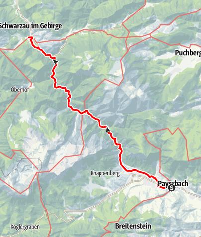 Mapa / Marienweg Etappe Payerbach - Schwarzau i. Gebirge