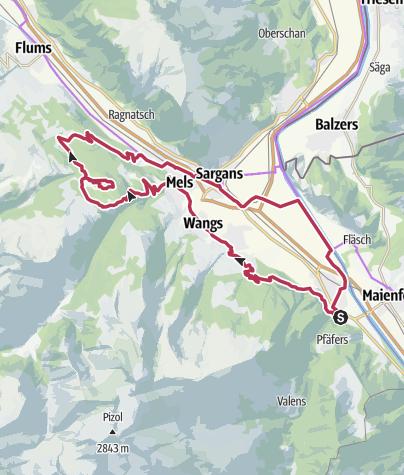 Karte / E-Bike & Hike - Chapfensee