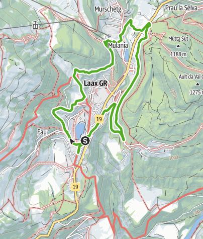 Map / La Senda da Cultura - Kulturweg Laax