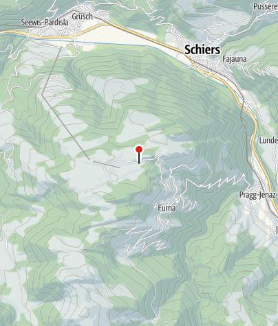 Karte / Abzweigung direkt zum Berghaus Schwänzelegg, Grüsch-Danusa