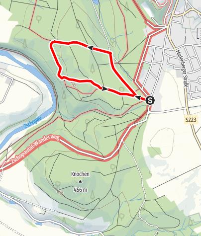Karte / Kurze Waldrunde