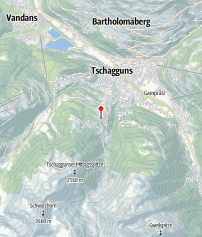 Karte / Ausblick auf das Tal