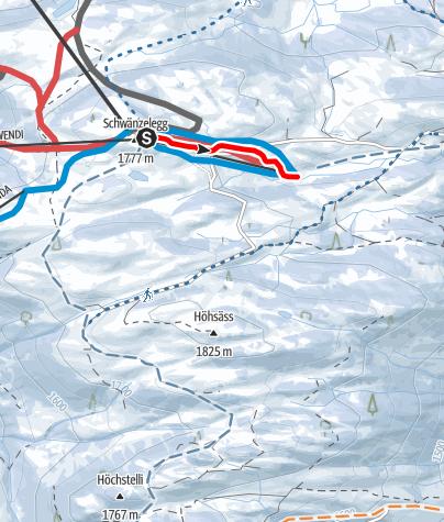 Karte / Schlittelbahn Grüsch-Danusa