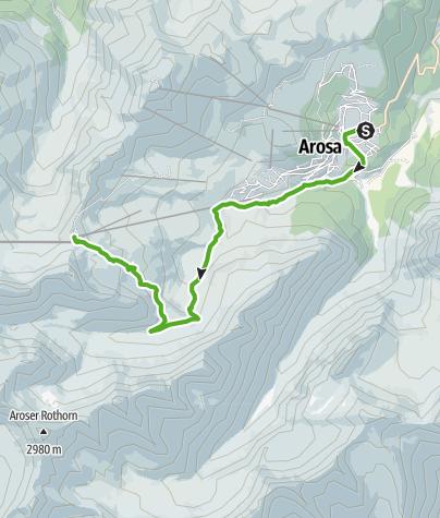 Map / Wanderung von Arosa auf's Hörnli