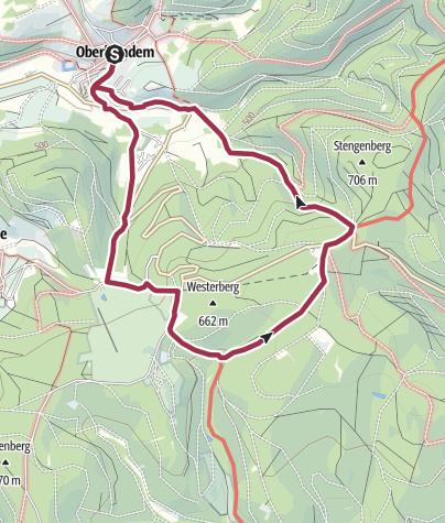 Karte / Monja´s schönster Spazierweg