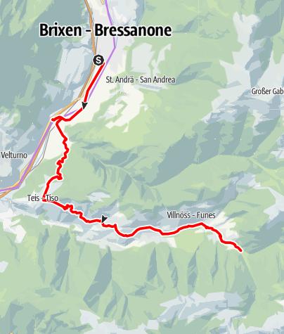 Carte / Bike Tour Brixen - Villnöß