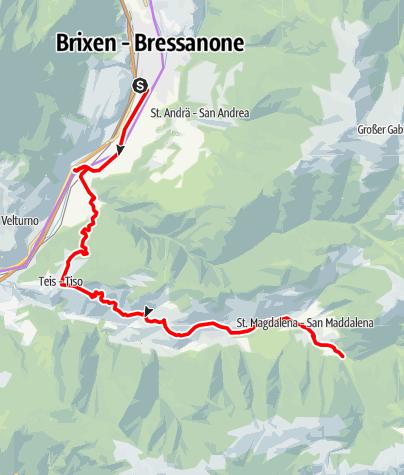 Kaart / Bike Tour Brixen - Villnöß