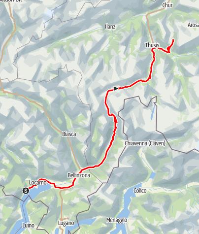 Karte / Ascona - Lenzerheide