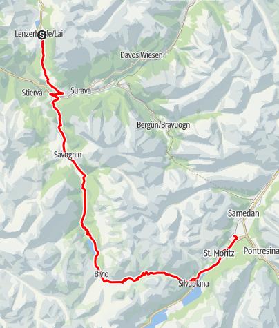 Karte / Lenzerheide - Celerina