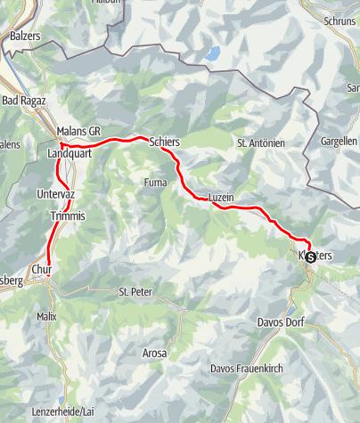 Karte / Klosters Platz - Chur