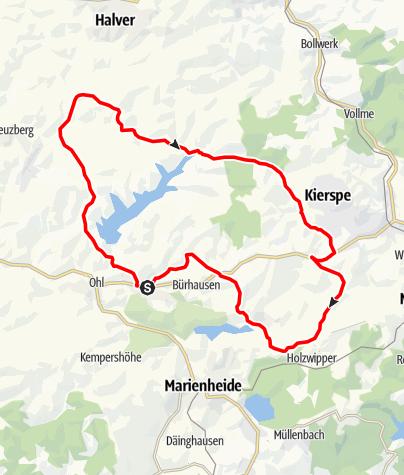 Karte / Kiersper Talsperrenroute