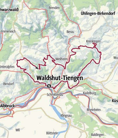 Karte / Waldshut-Tiengen: Chäppeleweg