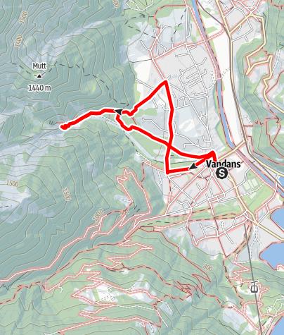 Kaart / Wildwasser Schlosswand Vandans