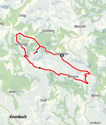 Karte / E-Bike-Strecke: Hollenthon - Mandl´s Ziegenhof