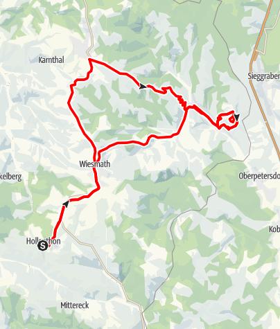 Karte / E-Bike-Strecke: Hollenthon - Archäologisches Freilichtmuseum Schwarzenbach