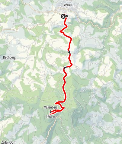 Karte / Vorau – Masenberg MTB Tour