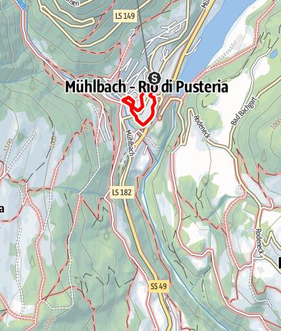 Karte / Historischer Rundweg Mühlbach