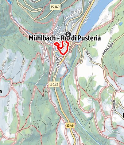 Mapa / Historischer Rundweg Mühlbach