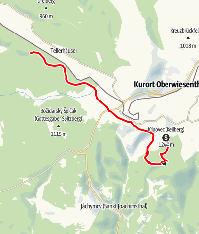Karte / CZ Klinovec St Johannes