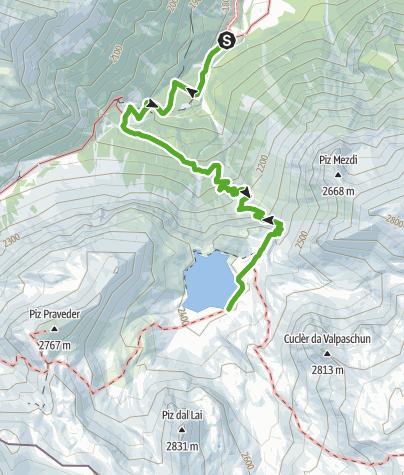 Karte / Lai da Rims - Kurzwanderung