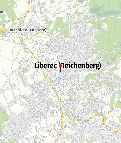 Mapa / Kreuzkirche mit Pestsäule Liberec