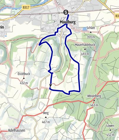 Karte / Von Maulburg über den Dinkelberg