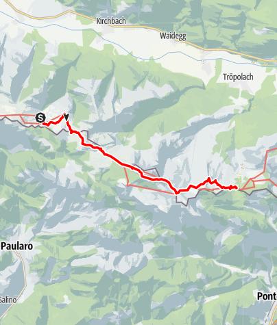 Mapa / KAHÖ 05: Straninger Alm - Nassfeld