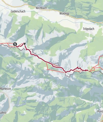 Mappa / KAHÖ 05: Straninger Alm - Nassfeld