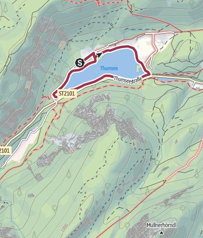 Karte / Rund um den Thumsee