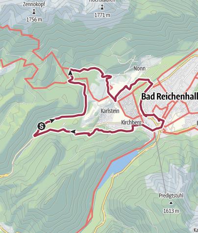 Karte / Thumsee - Listsee - Bad Reichenhall Runde