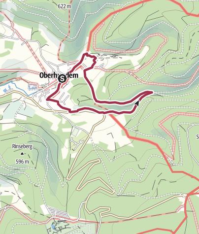 Karte / Oberhundem Kur- und Nordic-Walking-Weg Hardtweg