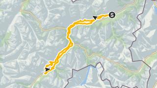 Carte / Nationalpark Bike-Marathon Alternativstrecke