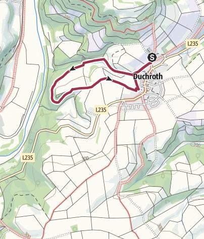 Kaart / Hoekersfels Rundwanderweg