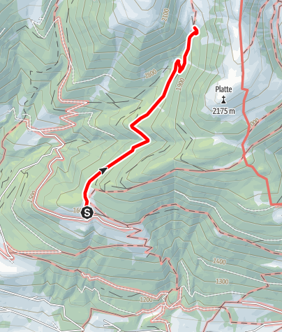 Mapa / Wanderung zur Plattner Alm