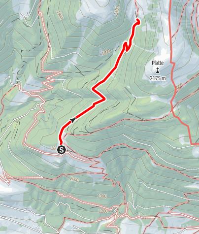 Kaart / Wanderung zur Plattner Alm