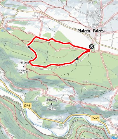 Karte / Pfalzen – Irenberg
