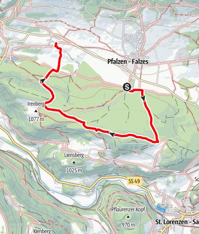 Karte / Lothener Köpfl