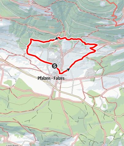 Karte / Panoramasteig Pfalzen