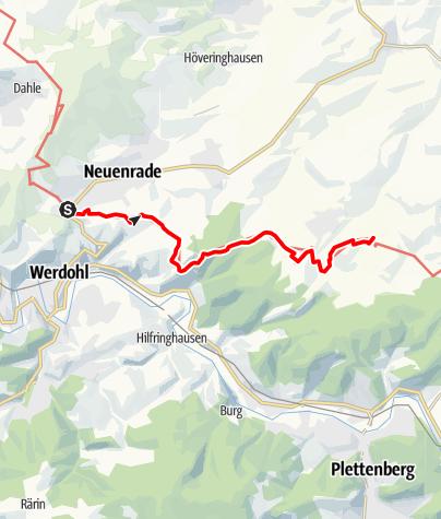 Kaart / Sauerland-Höhenflug: Von Neuenrade nach Altenaffeln