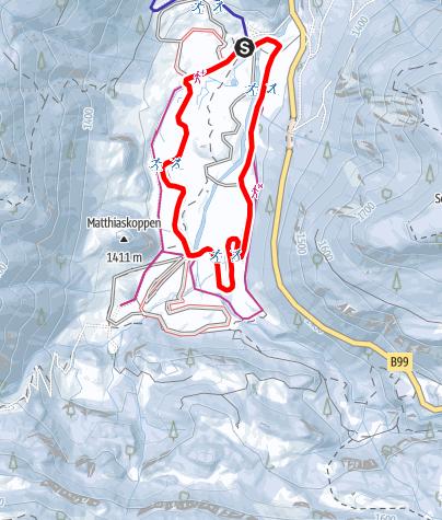 Karte / Gnadenalm Loipe (blau)