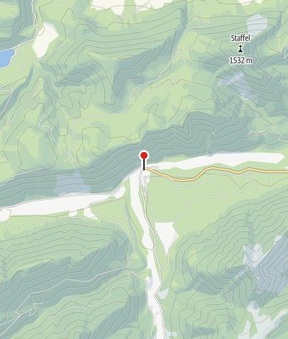 Karte / Gasthaus Post in Vorderriß