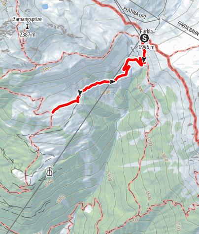 Karte / Wanderung Zamangalpe