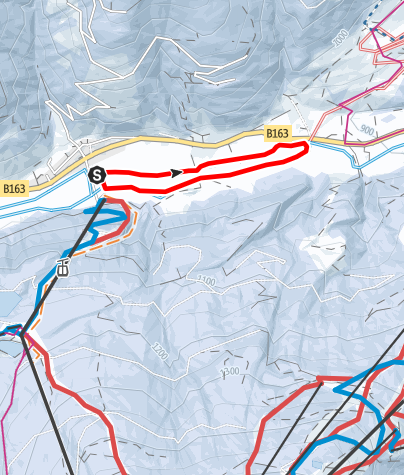 Karte / B - Moadörfl Loipe