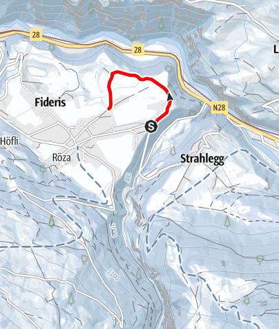 Map / Winterwanderweg Fideris Dorf - obere Tour